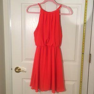 Flowy orange dress